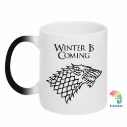 Кружка-хамелеон Winter is coming (Игра престолов) - PrintSalon