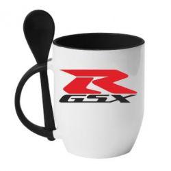 Кружка с керамической ложкой GSX-R