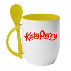 Кружка с керамической ложкой Katy Perry