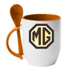 Кружка с керамической ложкой MG Cars Logo