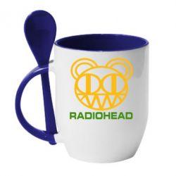 Кружка с керамической ложкой Radiohead