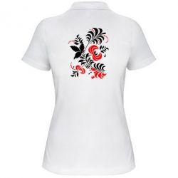 Женская футболка поло Квіти - PrintSalon