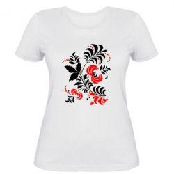 Женская футболка Квіти - PrintSalon