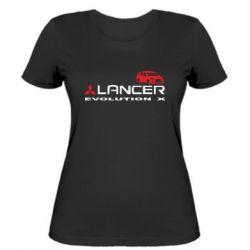 Женская футболка Lancer Evolution X