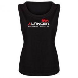 Женская майка Lancer Evolution X