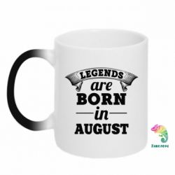 Кружка-хамелеон Legends are born in August