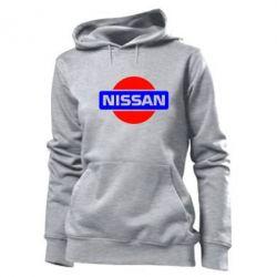 Женская толстовка Logo Nissan