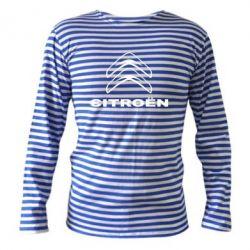 Тельняшка с длинным рукавом Логотип Citroen - PrintSalon