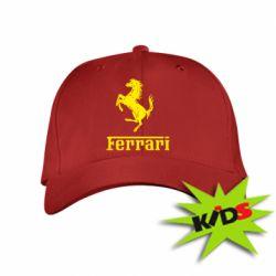 Детская кепка логотип Ferrari