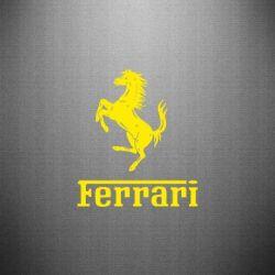 Наклейка логотип Ferrari
