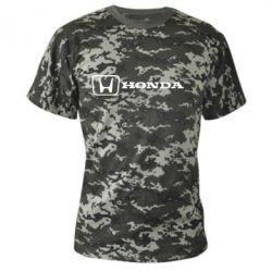Камуфляжная футболка Логотип Honda - PrintSalon