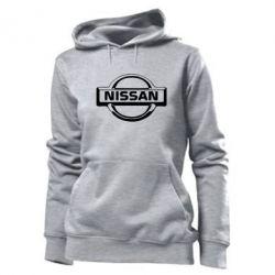 Женская толстовка логотип Nissan - PrintSalon