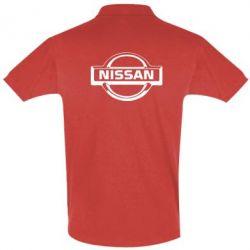 Футболка Поло логотип Nissan - PrintSalon