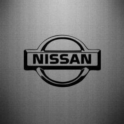 Наклейка логотип Nissan - PrintSalon