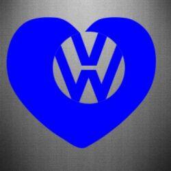 Наклейка Love Volkswagen
