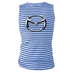 Майка-тельняшка Mazda 3D Logo