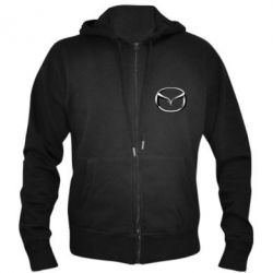 Мужская толстовка на молнии Mazda 3D Logo