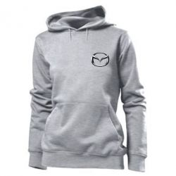 Женская толстовка Mazda 3D Small Logo