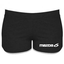 Женские шорты Mazda 6 - PrintSalon