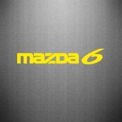 Наклейка Mazda 6 - PrintSalon