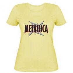 Женская футболка Metallica Logo - PrintSalon