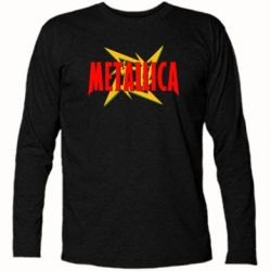 Футболка с длинным рукавом Metallica Logo - PrintSalon