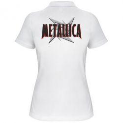 Женская футболка поло Metallica Logo - PrintSalon
