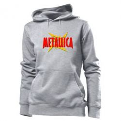 Женская толстовка Metallica Logo - PrintSalon