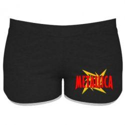 Женские шорты Metallica Logo - PrintSalon