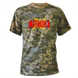 Камуфляжная футболка Metallica Logo - PrintSalon