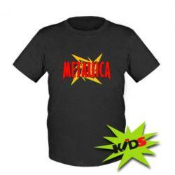 Детская футболка Metallica Logo - PrintSalon