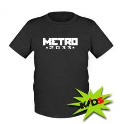 Дитяча футболка Metro 2033 - PrintSalon e8f97dca95f37