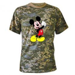 Камуфляжная футболка Микки Маус