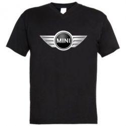 Мужская футболка  с V-образным вырезом Mini Cooper