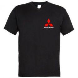 Мужская футболка  с V-образным вырезом Mitsubishi small