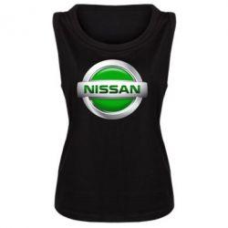 Женская майка Nissan Green