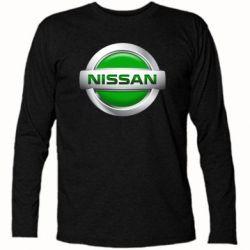 Футболка с длинным рукавом Nissan Green