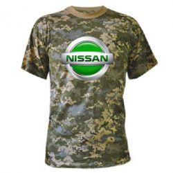 Камуфляжная футболка Nissan Green