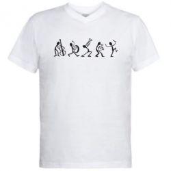 Мужская футболка  с V-образным вырезом Оркестр