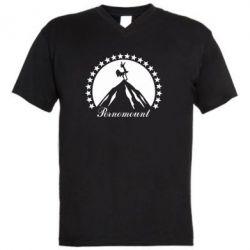 Мужская футболка  с V-образным вырезом P**nomaunt - PrintSalon