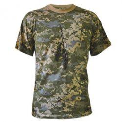 Камуфляжная футболка Перо