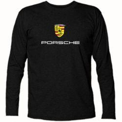 Футболка с длинным рукавом Porsche - PrintSalon