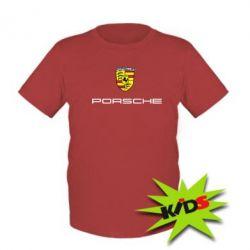 Детская футболка Porsche - PrintSalon