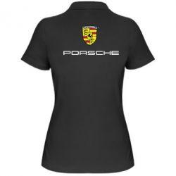 Женская футболка поло Porsche - PrintSalon