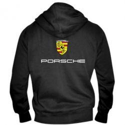 Мужская толстовка на молнии Porsche - PrintSalon