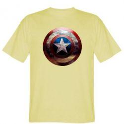 Мужская футболка Потрескавшийся щит Капитана Америка - PrintSalon