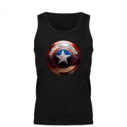 Мужская майка Потрескавшийся щит Капитана Америка - PrintSalon