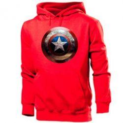 Мужская толстовка Потрескавшийся щит Капитана Америка - PrintSalon
