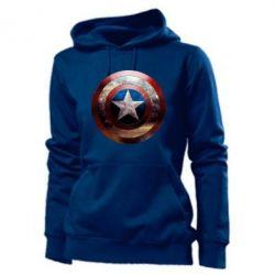 Женская толстовка Потрескавшийся щит Капитана Америка - PrintSalon