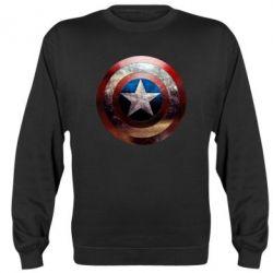 Реглан Потрескавшийся щит Капитана Америка - PrintSalon